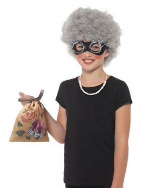 DAVID WALLIAMS COSTUME BOOK WEEK CHILDREN GANGSTA GRANNY ACCESSORY KIT