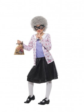 Girl Book Week Official David Walliams Deluxe Gangsta Granny Fancy Dress Costume