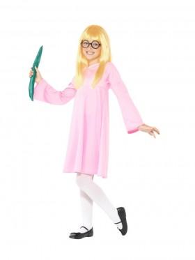 Kids Roald Dahl Deluxe Sophie BFG Girls Dress Up Book Week Costume Wig Glasses