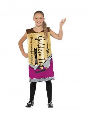 Childs  Roald Dahl Winning Wonka Bar Costume Kids Charlie Chocolate Factory Fancy Dress Book Week