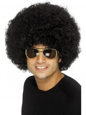 70s Funky Black Wig Adult Afro 1970s 80s Disco Costume Party Curly Wig Hippie Accessories