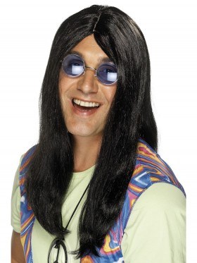 Adult Mens Neil 1960s Hippy Hippie Wig 60s Smiffys Fancy Dress Costume Accessories