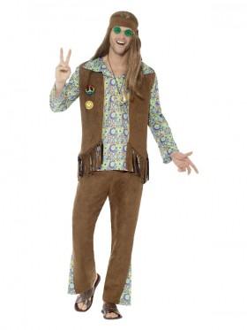 Mens 60s Hippie Hippy Costume
