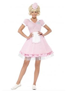 50's Diner Girl Ladies 1950s Fancy Dress Rock n Roll Grease 50s Costume