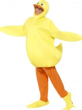 Unisex Duck Yellow Animal Bodysuit Fancy Dress Up Party Jumpsuit Onesies Costume