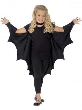 Kids Black Vampire Bat Wings Cape