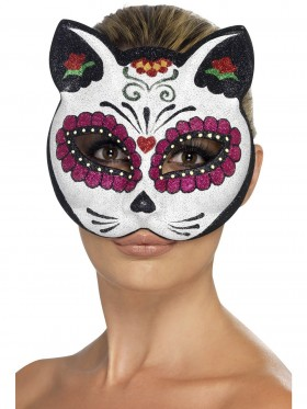Sugar Skull Cat Glitter Eyemask mask