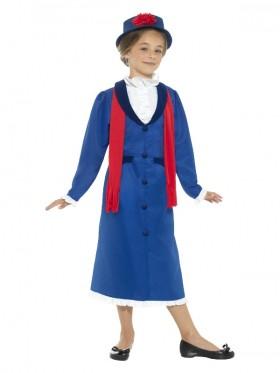 Kids Victorian Nanny Costume Girls