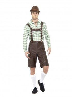 GREEN BROWN BAVARIAN MEN COSTUME