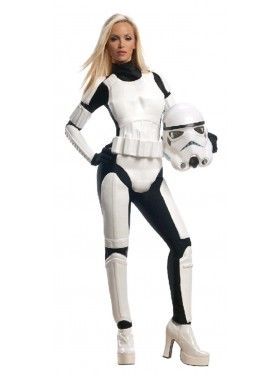 Female Licensed Star Wars Storm Trooper DELUXE Stormtrooper Halloween Adult Costume