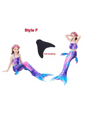 Kids Mermaid tails Swimmable Swimsuit Costume Monofin