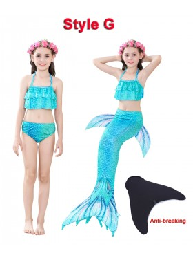 Kids Mermaid Swimmable Swimsuit Costume
