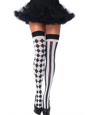 Harlequin Thigh High Stockings