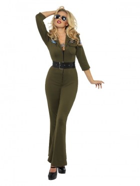 Ladies Top Gun Aviator Jumpsuit