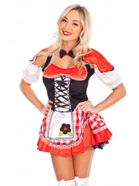 Ladies Red Riding Hood Fancy Dress Costume
