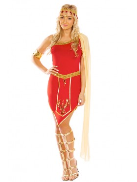 Ladies Cleopatra Roman Greek Goddess Fancy Dress Costume