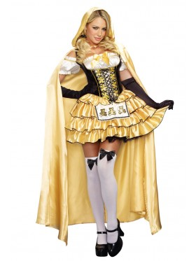Ladies Goldilocks Fairy Tale Storybook 3 Bears Dress Up Costume