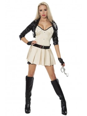 Ladies Sexy Police woman Costume Cops Uniform Policeman Hens Fancy Dress