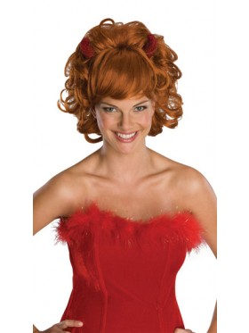Sultry Devil Wig With Horns