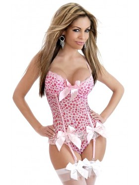 Pink Sweetheart Corset with match G string