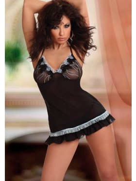 Black Sheer babydoll