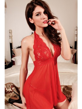 Red Lace Babydoll Lingerie