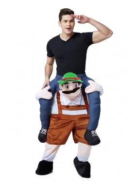 Oktoberfest Shoulder Carry Piggy Back Ride On Me Costume