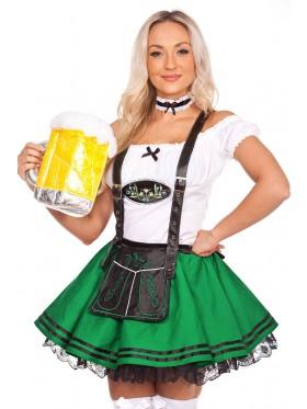 Oktoberfest Beer Maid Costume Green