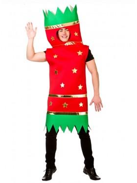 Adult Funny Novelty Unisex Christmas Xmas Cracker Bon Bon Outfit Tabard Costume