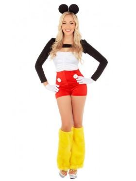 Ladies Minnie Mouse Fancy Dress Costume