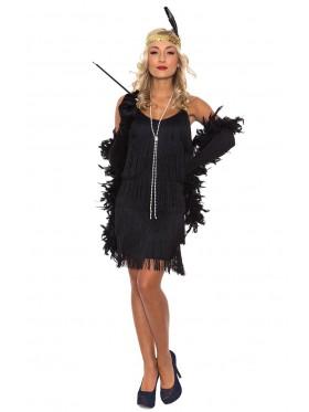 Ladies Black Flapper 20's Costume