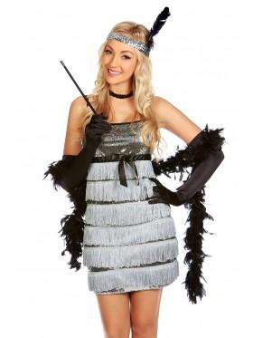 Ladies 1920s Flapper Fancy Dress Costume