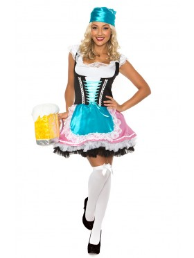 Ladies Beer Maid Wench German Heidi Oktoberfest Gretchen Costume Outfit