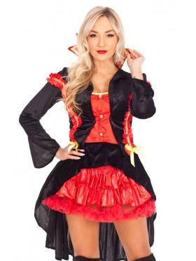 Ladies Vampire Countess Fancy Dress Costume