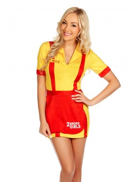 2 Broke Girls Waitress Fancy Dress Costume