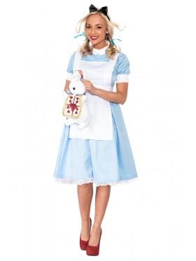 Ladies Alice in Wonderland Fancy Dress Storybook Hens Party Costume Halloween Outfit