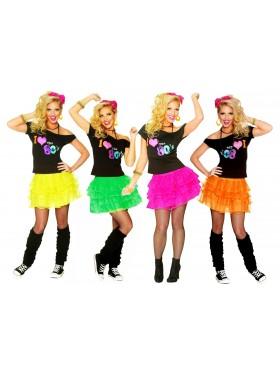 Ladies I Love the 80s T-shirt Skirt Costume