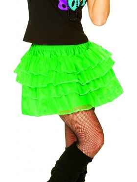 Green 80s Pettiskirt