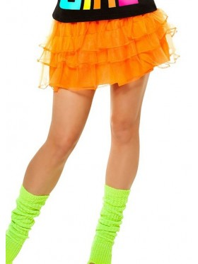 Orange 80s Pettiskirt