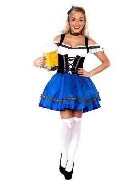 Ladies Oktoberfest Beer Fancy Dress Costume