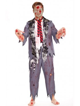 Mens Halloween Zombie Bloody Horror Costume Fancy Dress Party Outfits