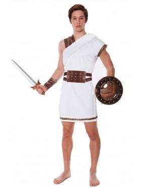 Mens Roman Greek Warrior Gladiator Spartan Toga Soldier Costume Fancy Dress