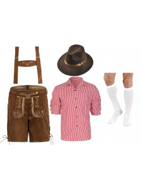 Mens Lederhosen German Costume