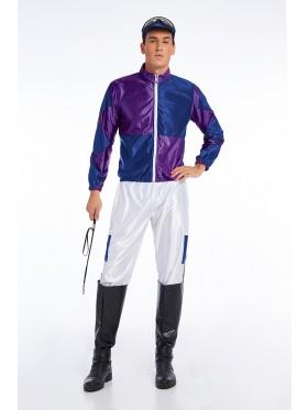 Purple Jockey Costume Mens