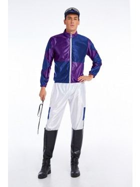 Purple Jockey Costume Mens Full Set
