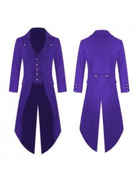 Purple STEAMPUNK TAILCOAT JACKET Magician