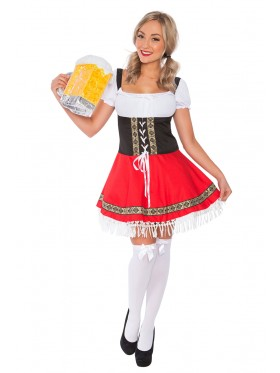 Ladies Oktoberfest German Bavarian Beer Maid Costume