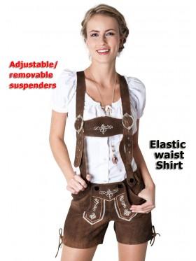 Ladies Oktoberfest Lederhosen costume