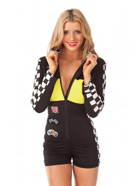 Yellow Racer Racing Uniform