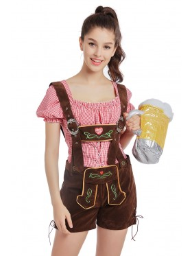 Lederhosen Beer Girl Costume